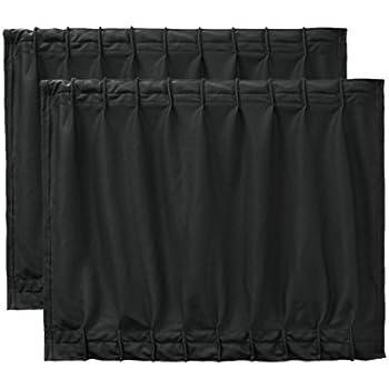 Amazon Com Uxcell 2 Pcs 50 X 39cm Black Adjustable Vip Car Window