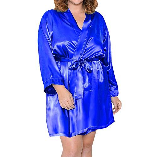 Dentelle Vêtements et Robe Chemise Femmes Bleu Robe Nuit La de Soir du en Poupée Lingerie LianMengMVP de Sexy Nuit Soie Fqan0Yfx