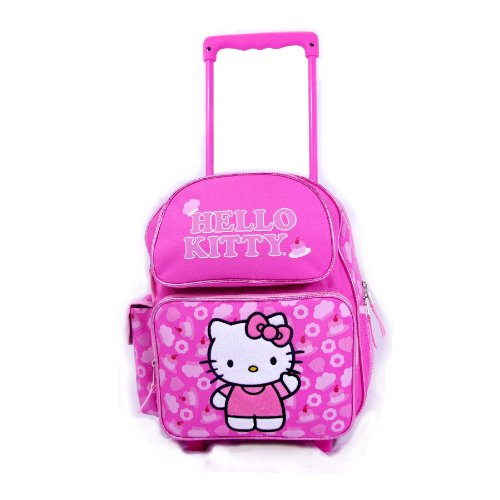 Sanrio Hello Kitty Rolling Backpack Kitty Wheeled 12