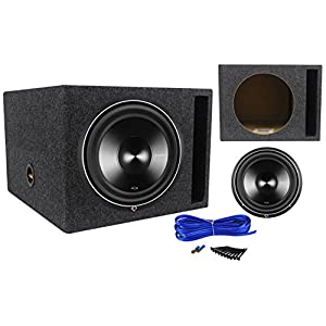 "Rockford Fosgate P3D4-12 12"" 1200 Watt Car Subwoofer + Vented Sub Enclosure Box"