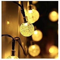 Garden and Outdoor Garden Solar Lights, 50 LED Outdoor String Lights Garden Crystal Ball Decorative Lights 24Ft Waterproof Indoor Outdoor… outdoor lighting