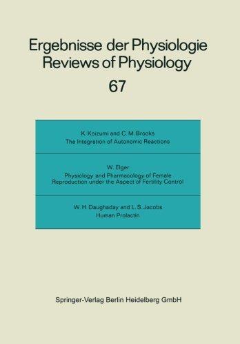 Reviews of Physiology: Biochemistry and Experimental Pharmacology (Ergebnisse der Physiologie, biologischen Chemie und experimentellen Pharmakologie)