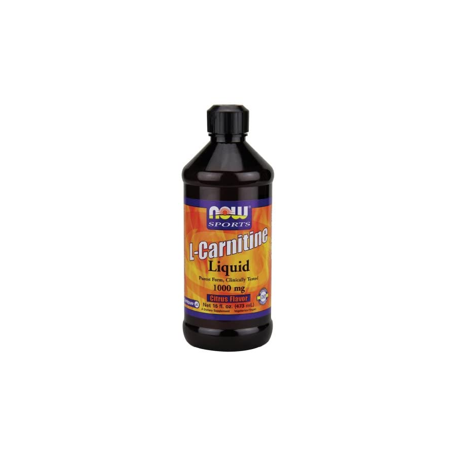 Now Foods L Carnitine Liquid Citrus Flavor 1000 mg 16 oz.