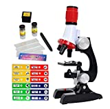 Little World Science Kits for Kids Beginner Microscope with LED 100X 400X and 1200X-Include Sample Prepared Slides 12pc- Educational Toy Birthday