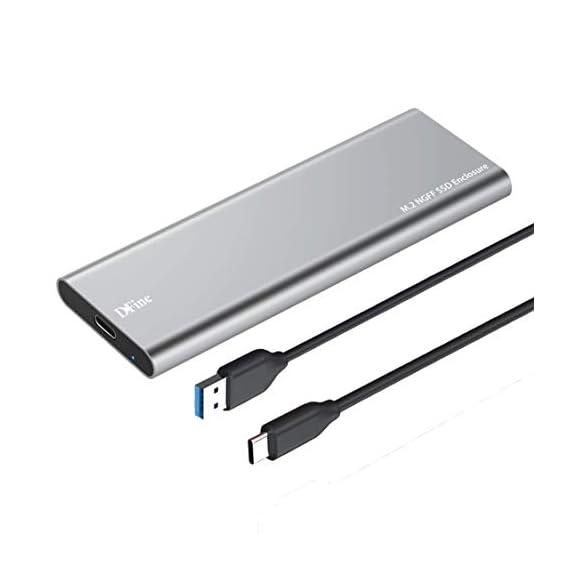 ADWITS USB 3.0 UASP to SATA NGFF M.2 2230/2242/2260/2280 Key B or B&M SSD SuperSpeed Adapter, External Enclosure Case