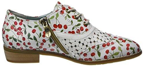 Donna Bianco Vita Stringate Oxford Blanc Laura Claudie Blanc 10 Scarpe 7qgPq4w