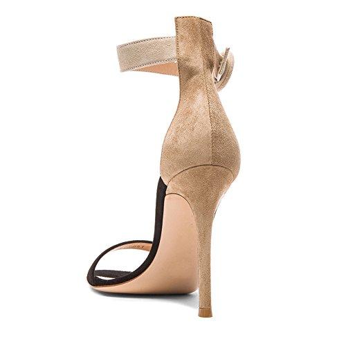 Couleurs À Elégants Fashion Artisan 100mm Deux Femmes Simples De Des Chaussures Haut Cheville Edefs Couleurs 10cm Lanière Bride Talon Sandales Argenté XqP8wxB