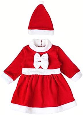 4PCS Santa Claus Costume Kids Baby Suit Christmas Party Outfit Fancy Xmas Dress