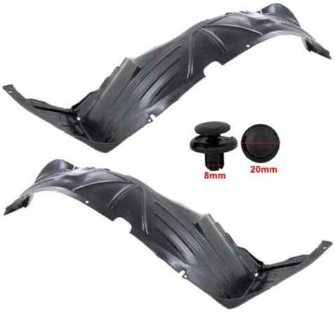 Parts N Go 2003-2008 Element Front Fender Liner Set with Clip//Fasteners HO1248122 HO1249122 74151SCVA00 74101SCVA0