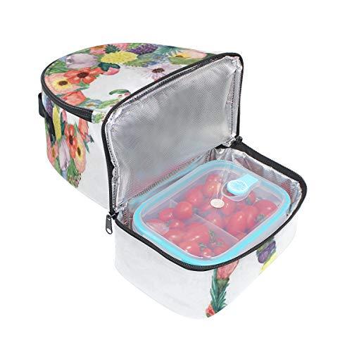 Sac épaule pique abstrait Sangle nique à pour déjeuner Fleur double réglable Cooler éléphant UUxrHq5w