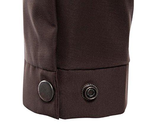 Long Gocgt Men's Sleeve Jackets Full Casual 4 Lightweight Bomber Zip xFwrExqd