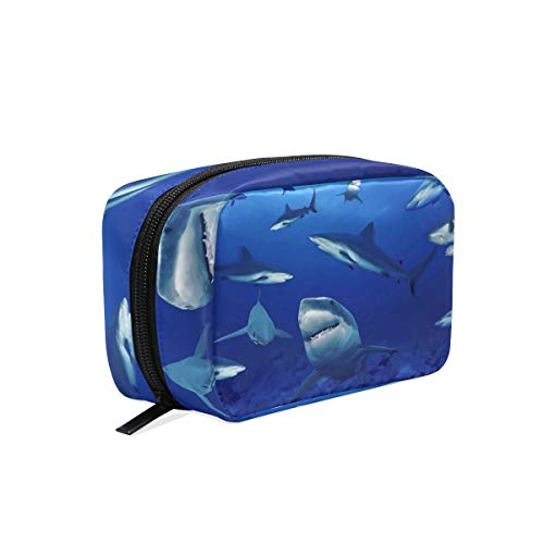 Makeup Cosmetic Bag Sea Ocean Animal Sharks Group Pouch Clutch