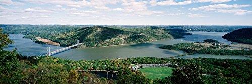 Posterazzi Across Bear Mountain Bridge Hudson River New York State USA Poster Print (12 x 36)