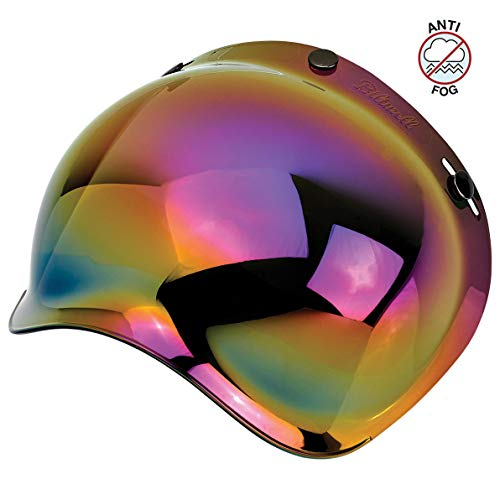 Biltwell Unisex-Adult (BS-RNB-AF-SD) Bubble Shield-Rainbow Mirror-Anti-Fog, One Size