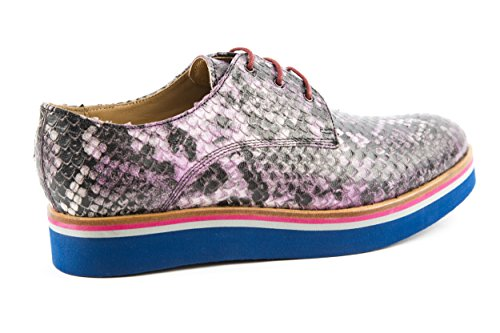 Melvin & Hamilton - Zapatos de cordones de Piel Lisa para mujer morado morado 37