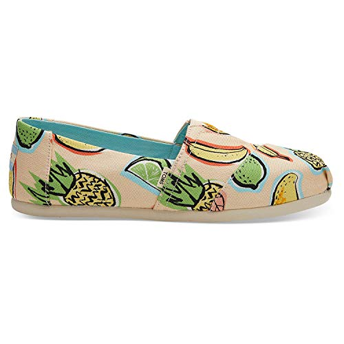 TOMS Women's Alpargata Coral Pink Cuban Fruits 10 B US