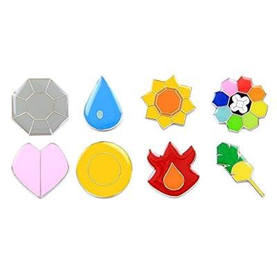 Pokemon Gym Badges: Gen 1 - Kanto (Clear Coating, Iron)