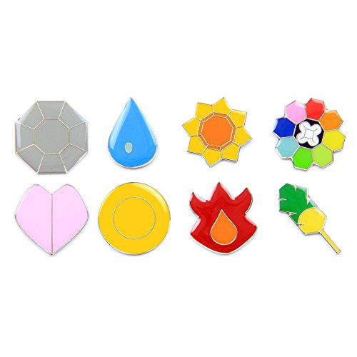 Pokemon Gym Badges: Gen 1 - Kanto (Clear Coating, - Originals Canada Ore