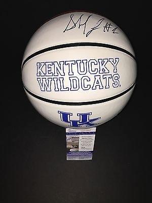 Skal Labissiere Autographed Signed Kentucky Wildcats Logo Basketball JSA COA 5