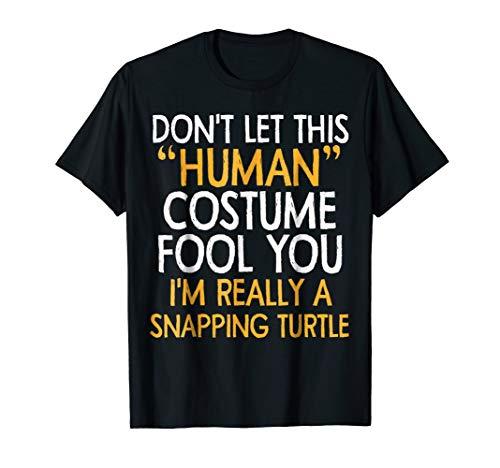 Snapping Turtle human Costume Tshirt Halloween 2018 Tshirt