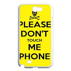 Personalized Hard Protective Phone Case for Samsung Galaxy Note 2 N7100 Cover Case - Don't Touch Me HX-MI-019259