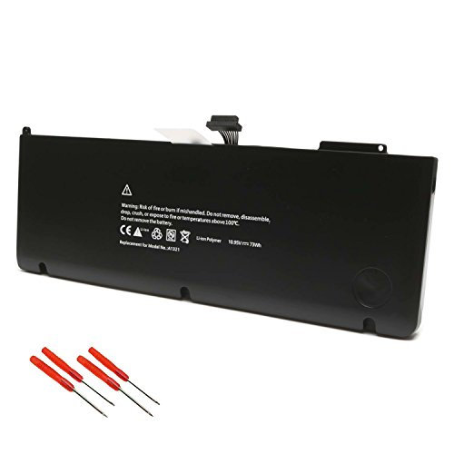 A1321 A1286 Battery for Apple MacBook Pro 15 inch (Only for 2009 2010 Version) Fits MB985 MB986J/A MC118 MB986 Series Notebook (2009 Model 7 Series)