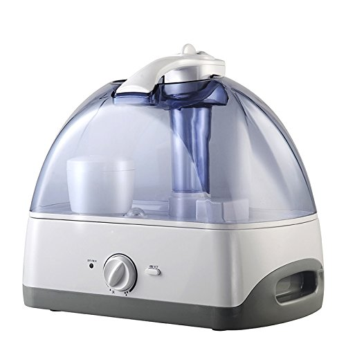 Jshq Humidifier Waterless Auto Shut-off Home large capacity pregnant women bedroom office air conditioning air humidifier mute mini aroma, transparent blue