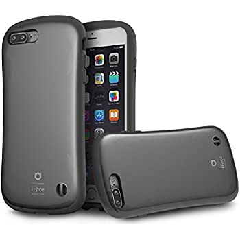 iPhone 7 Plus Case, iFace [Pastel Series] Rugged Hard Case with Built-In Metal Plate Protection For Apple iPhone 7 Plus (2016) - Gray (Pearl)