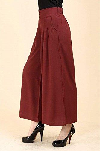 Waist Autunno Prodotto Pantaloni A Elegante Pantalone Libero Moda Due Dei Pants Lunga Damigella Plus Primaverile High Vintage Con Donna Winered Tasche Campana Larghi 0Cwqwtp
