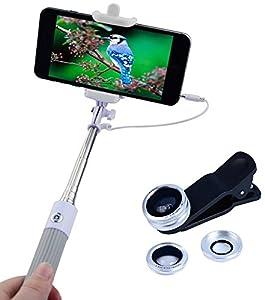 Apexel Foldable Selfie Stick Monopod with Lens Kit