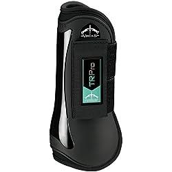 VEREDUS TR PRO Open Front Tendon Boots Large Black