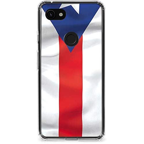 Skinit Puerto Rico Flag Google Pixel 3a Clear Case - Officially Licensed Skinit Originally Designed Phone Case Clear - Transparent Google Pixel 3a Cover