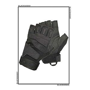 BLACKHAWK! Men's Black S.O.L.A.G. Special Ops 1/2 Finger Light Assault Glove