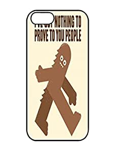 Humor Case-Hot Sell Surefooted Iphone 5 5s Rubber TPU Gel Black Cover Case
