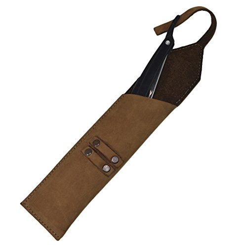 Rustic Leather Straight Razor Case Handmade by Hide & Drink :: Toffee (Gold Venus Case)