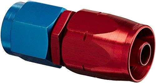 (Aeroquip 1012 -06AN Straight Hose End Red/Blue)