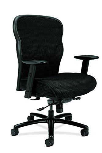 basyx by HON Big and Tall Executive Chair - Mesh Office Chair with Adjustable Arms, Black (VL705)