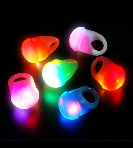 LED Light Up Flashing Party Favor Jelly Rings - Various Styles by Mammoth Sales (Blank Rings)