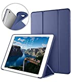 Apple iPad Air2 9.7 Inch Smart Cover, DTTO Ultra Slim Lightweight Smart Case Trifold Cover Stand with Flexible Soft TPU Back Cover for iPad Apple iPad Air2,9.7-inch [Auto Sleep/Wake], Navy Blue