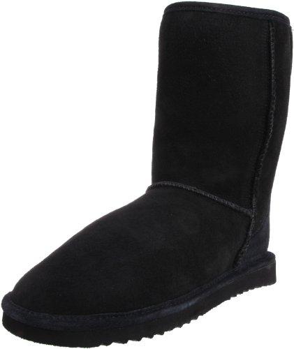 (Minnetonka Women's 3679 Short Classic Pug Boot,Black,5 M US)