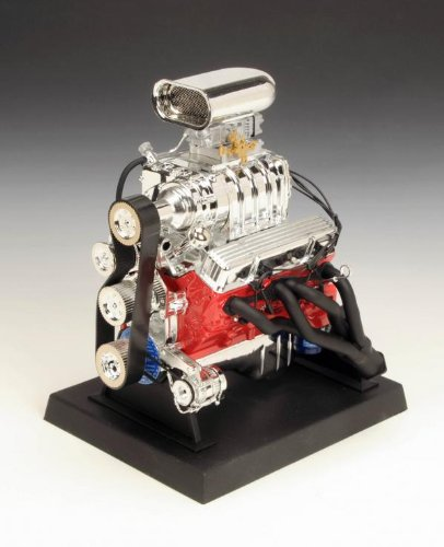 liberty-classics-84035-orange-and-silver-chrome-5-x-6-x-7-chevrolet-blown-hot-rod-engine-model