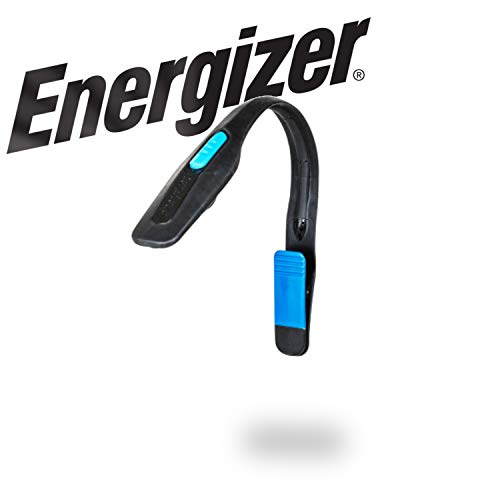Energizer Clip on Book Light for Reading in Bed, LED Reading Light for Books and Kindles, 25 Hour Run Time (Batteries Included)