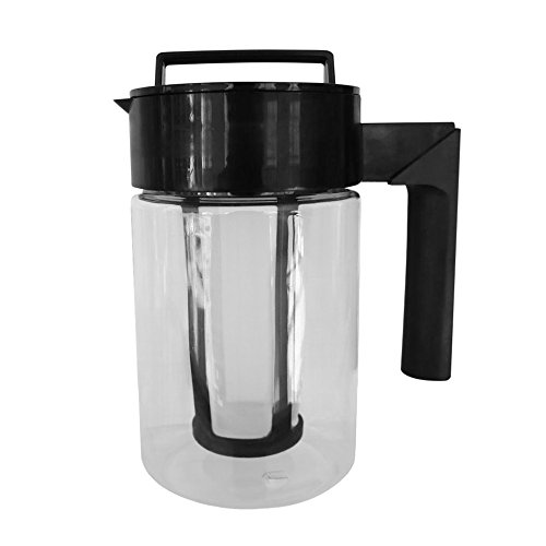 Hanku900ML Cold Brew Iced Coffee Maker Airtight Seal Silicone Handle Coffee Kettle