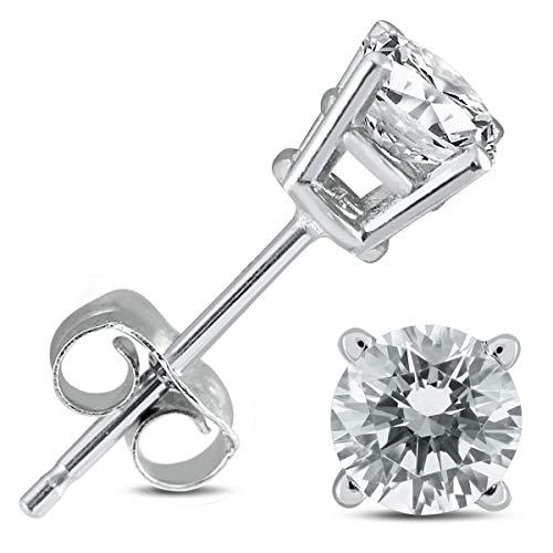 100% Pure Diamond Earrings Diamond Stud Earrings 1/4 ctw IGI Certified Lab Created Diamond Earrings For Women Lab Grown Diamond Earrings 14K F-G Quality Real Diamond Stud Earrings (Diamond Jewelry) ()