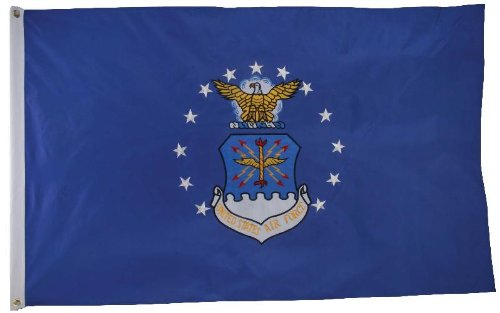 AIR FORCE FLAG – – 3×5 foot – DOUBLE SIDED – EMBROIDERED United Starts Air Force flag – – – USAF For Sale