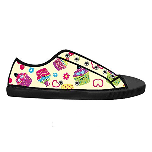 Dalliy S¨¹?e Cupcake Mens Canvas shoes Schuhe Lace-up High-top Sneakers Segeltuchschuhe Leinwand-Schuh-Turnschuhe D