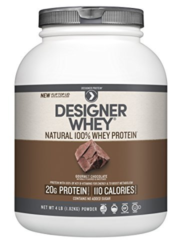 Designer Whey Protein Powder, Chocolate, 64 Ounce by Designer Protein (Designer Whey Chocolate)