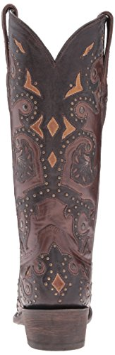 Classics Cafe Boot Bn Women's stud B Brown 8 Riding US Fiona Cafe Calf Lucchese Scarlette AdqBA