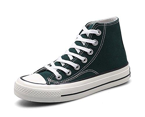 Honeystore Unisexs Sneaker High Schnürer Denim Sneakers Sportschuhe Turnschuhe Flache Leinwand High-Cut Schuhe Übergrößen Flandell Gr¨¹N