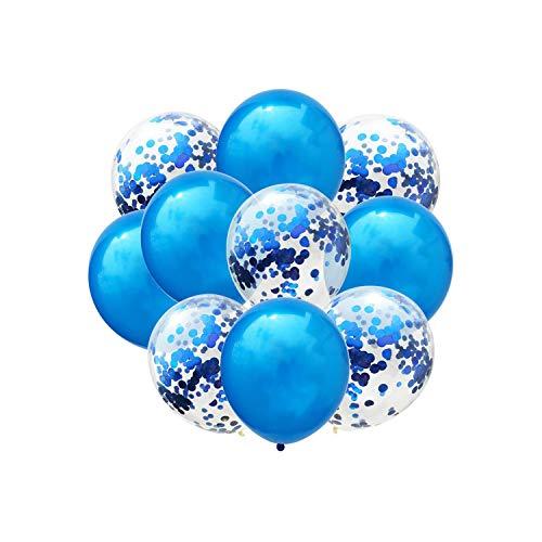 Birthday Decoration Blue Pink Confetti Balloon Happy Birthday Balloons,Dark Khaki ()